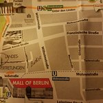 Berlin map showing location of Marriott (5 blocks to Brandenburg Gate)