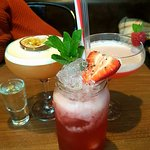 Jam Daiquiri, Pornstar Martini and Raspberry and Passionfruit Martini