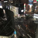 Looking down onto Shibuya Crossing from my room.