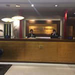 Hotel reception on day of departure
