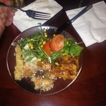 Third plate (salad, fried vegetables, rice)