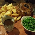 Steak pie and chips - oh yeah!