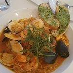 Bouillabaisse w/mussels, clams, shrimp, snapper, calamari, scallops and saffron broth