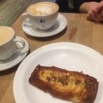 Roasted pineapple danish and cafe Ou lait