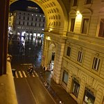 View from window toward Piazza della Repubblica