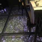 So cool the pebbles beneath the glass floor!!