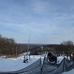 The view from the top near Santa's Beard Terrain park