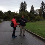 Barbara shares her in-depth knowledge on a rainy day in Stanley Park