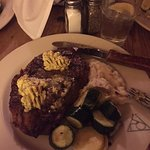 Rib eye with herb butter