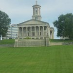 lawn in front of the Tenessee Capital
