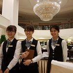 The wonderfull staff in the dining room