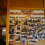 "Wall of Fame for the ""Big Daddy"" Breakfast Burrito Challenge!"