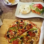 Pizza and Bagel