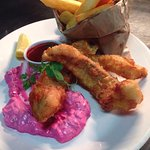 Fish and Chips with Beetroot Tartare