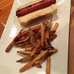 All beef hot dog and fresh cut fries - kids menu