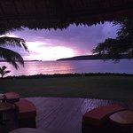 beautiful sunset for pre dinner drinks
