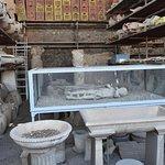 Pompeii Forum , Child cover in volcanic ash.