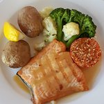 A beautiful salmon dish. Delicious!