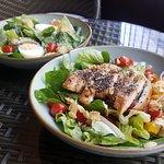 Spinach Strawberry Salad (front) & Caesar Salad(back)