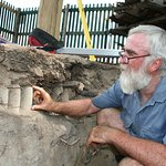 Whilst excavating for the Ruston foundations, we discovered much earlier gold assayers items..