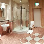 Best shower in thw world and a lovely warm bathroom!