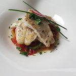Fresh Sea Bass with a medley of mediterranean vegetables