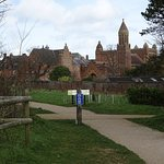 This is what you see from the car park at Quarr Abbey