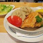 Filetes de pescada com puré à chef