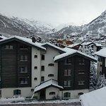 Tief verschneites Zermatt