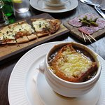 French Onion Soup at Cote in Clifton - Bristol (03/Mar/17).