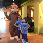 Curious George in the house.