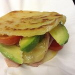 AREPAS, mmmm, warm, wheat free and all sorts of fillings