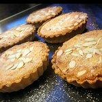 Homemade almond frangipane tarts.
