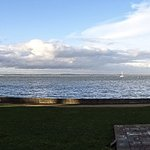 View of the Solent from the Norton Grange patio area