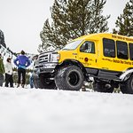 Sno-coach tours in Yellowstone Park