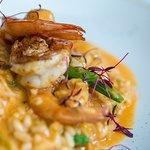 Main course - Prawn risotto, shellfish bisque