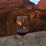 Wine & a stunning sunset. So lovely