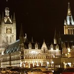 The Cloth Hall at night