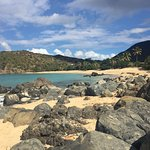 View from among the Boulders at Happy Bay Beach, St Martin