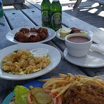 Conch and beers at Banana Bay Cafe