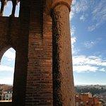 Vista desde el campanario de la Torre mudéjar de El Salvador. Vista de la Vega del Turia.