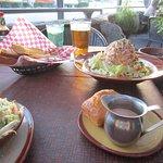 PoBoy salad and cornbread