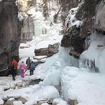 Ice Walk at Maligne Canyon near Jasper Alberta