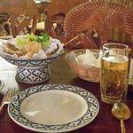 Starter Platter and Singha Beer