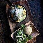 Farm Omelette, with avocado, charre corn, goat cheese