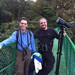 My husband and Andy in the Monteverde Cloud Forest.