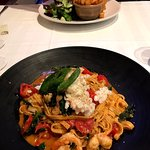 A special dish - Linguine with Chilli, Spanner Crab and prawns