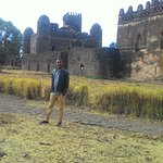 Me standing by the magnificent castles