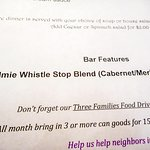 Snowaulmie Whistle Stop Blend (cabernet/merlot) was the February featured wine