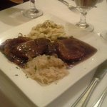 Sauerbraten with spaetzle and sauerkraut